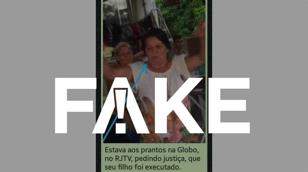 jacarezinho fake selo 2 - É falso que vídeo mostre mãe de um dos mortos no Jacarezinho segurando e brincando com fuzil