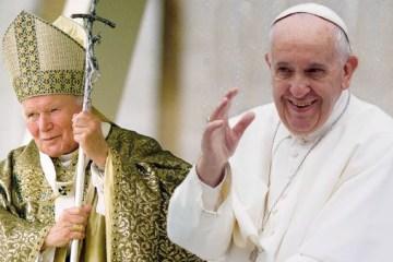 joao paulo ii e francisco montagem CN 600x338 1 - Papa Francisco relembra atentado contra João Paulo II há 40 anos; veja