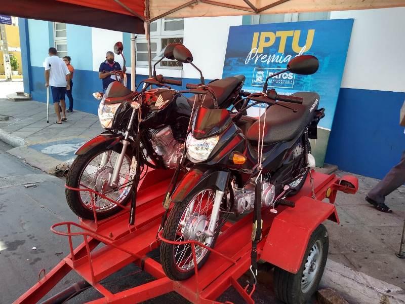 motos IPTU - Prefeitura de Patos sorteia no dia 15 de junho a primeira motocicleta da campanha do IPTU Premiado 2021