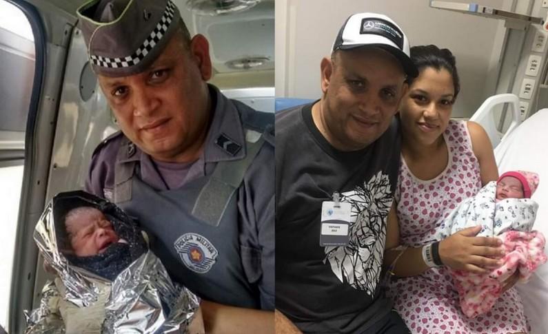 pm - Policial militar faz parto da própria filha, durante congestionamento