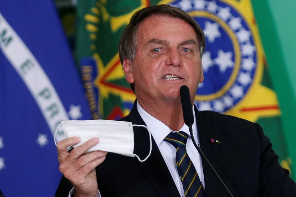 2021 06 10t212540z 699451783 rc2txn95qeyy rtrmadp 3 health coronavirus brazil - Bolsonaro volta a defender desobrigação de máscara para vacinados, mas diz que decisão será de governadores