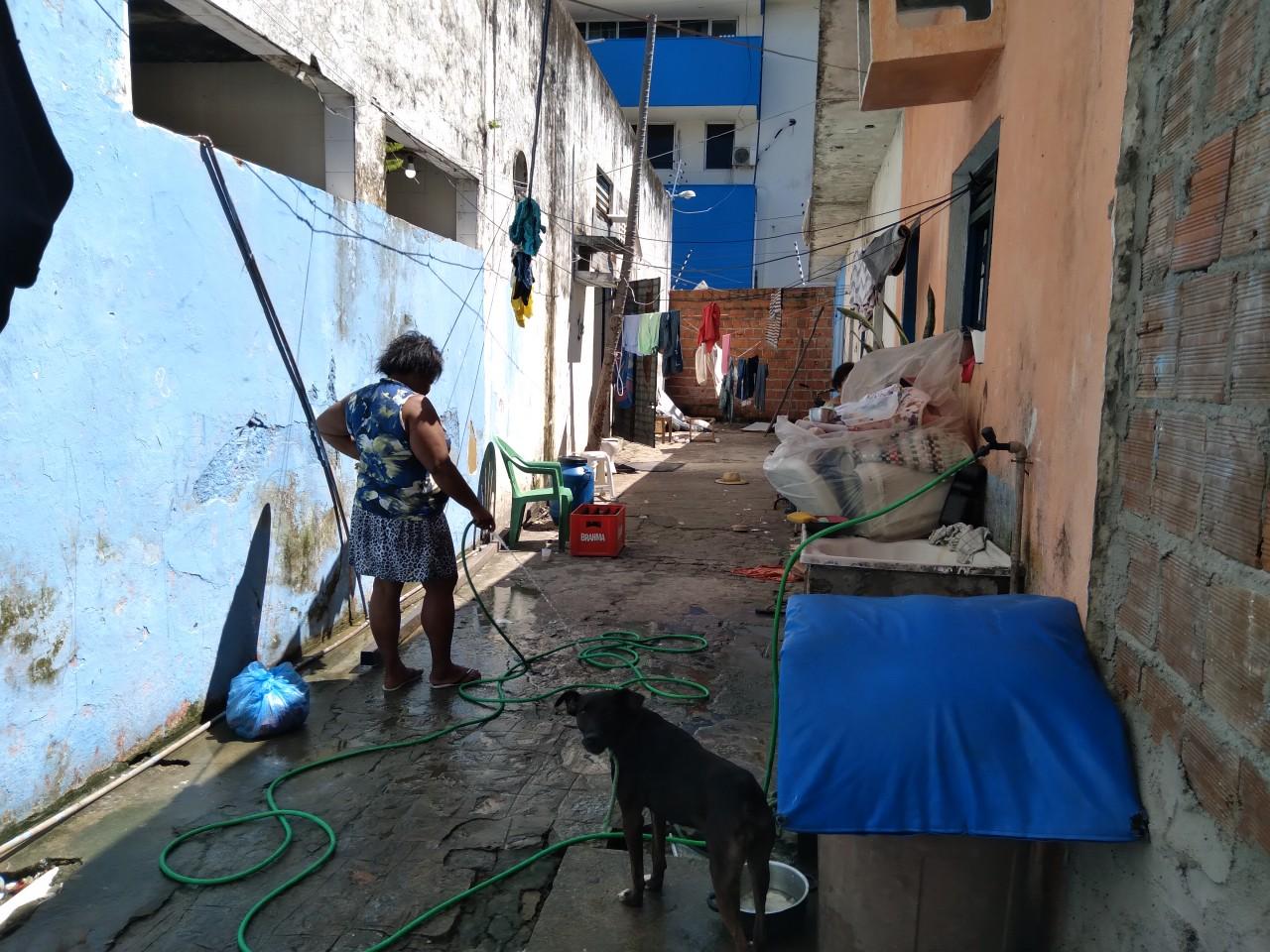 20210608 112149 - MOVIMENTO TERRA LIVRE: sem-tetos ocupam prédio do antigo jornal O Norte e explicam situação de vulnerabilidade; local poderá ser leiloado