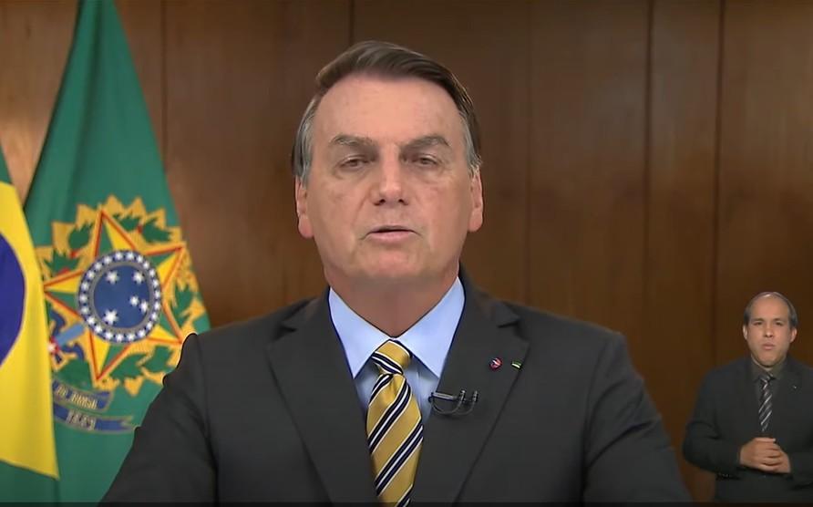Capturar 3 - PRONUNCIAMENTO: Bolsonaro agora defende vacina, destaca PIB e critica políticas de isolamento