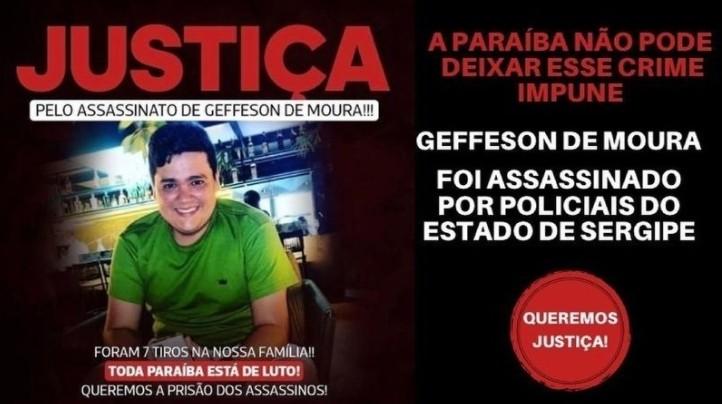 """Capturar 69 - PEDIDO DE JUSTIÇA: familiares de Geffesson de Moura lançam abaixo-assinado """"pela prisão imediata dos assassinos""""; saiba mais"""