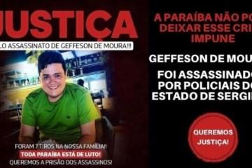 """PEDIDO DE JUSTIÇA: familiares de Geffesson de Moura lançam abaixo-assinado """"pela prisão imediata dos assassinos""""; saiba mais"""