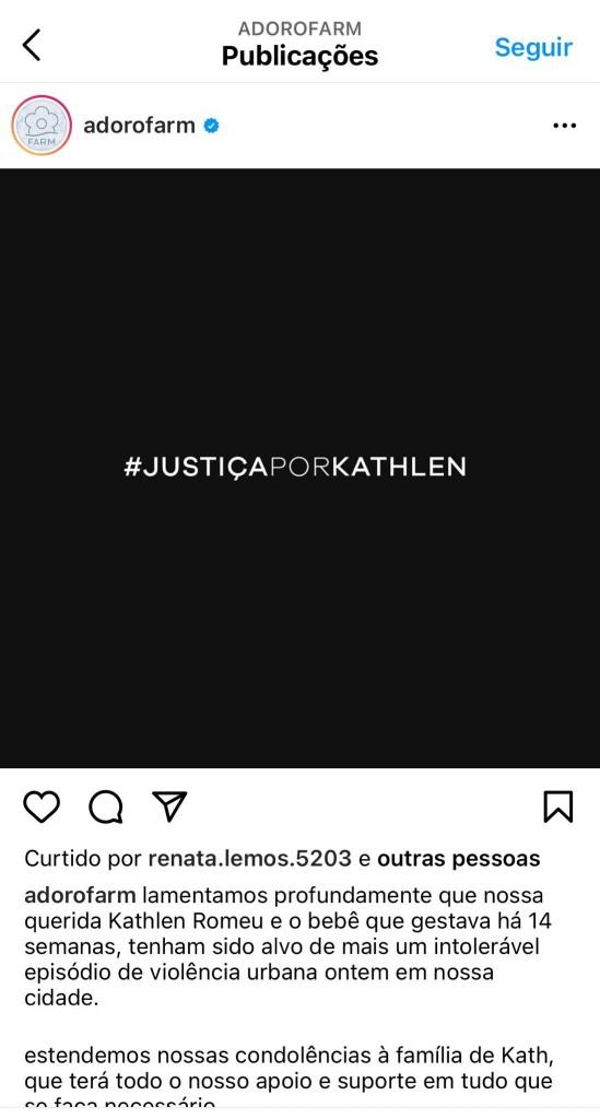E3dD1CmWUAcM61M - 'VIDAS NEGRAS IMPORTAM'?! Marca de roupas vira alvo de críticas por fazer campanha de vendas em homenagem a Kathlen Romeu