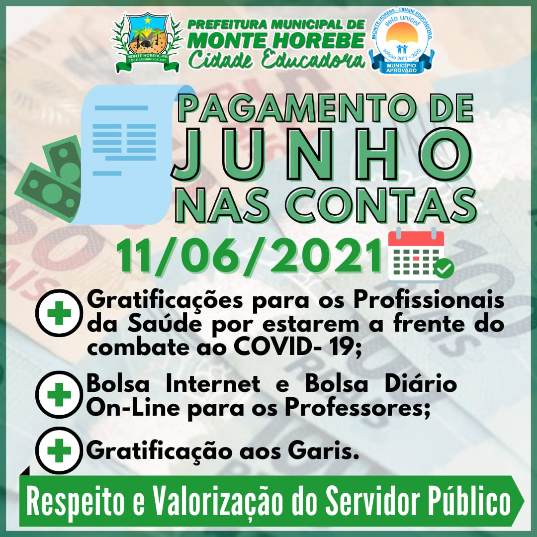 WhatsApp Image 2021 06 11 at 07.24.50 - COMPROMISSO: Prefeito de Monte Horebe, Marcos Eron, paga salários de junho dos servidores