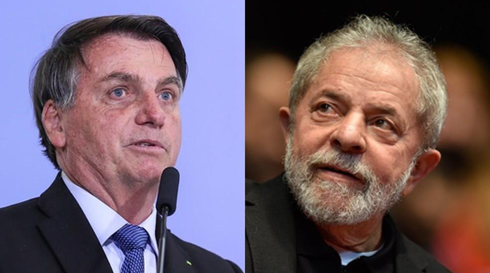 bolsonaro e lula.jpgol  - INSTITUTO PARANÁ: Pesquisa entre eleitores mostra Bolsonaro numericamente à frente de Lula