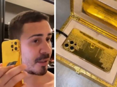 carl - Carlinhos Maia ganha iPhone de ouro avaliado em R$ 100 mil