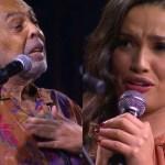 gilberto gil e juliette emocionados - Juliette Freire e Gilberto Gil se emocionam em dueto: 'Essa é nossa alma dançando forró'
