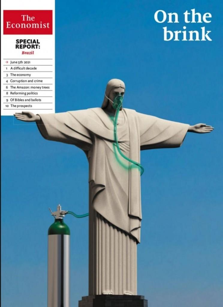 image 1 - Com Cristo no oxigênio, The Economist diz que Brasil precisa tirar Bolsonaro em 2022 para sair de crises