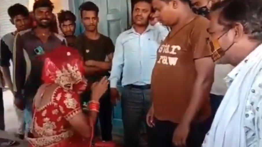 india homem disfacer - INUSITADO: Homem se disfarça de noiva para prestigiar casamento de amante - VEJA VÍDEO