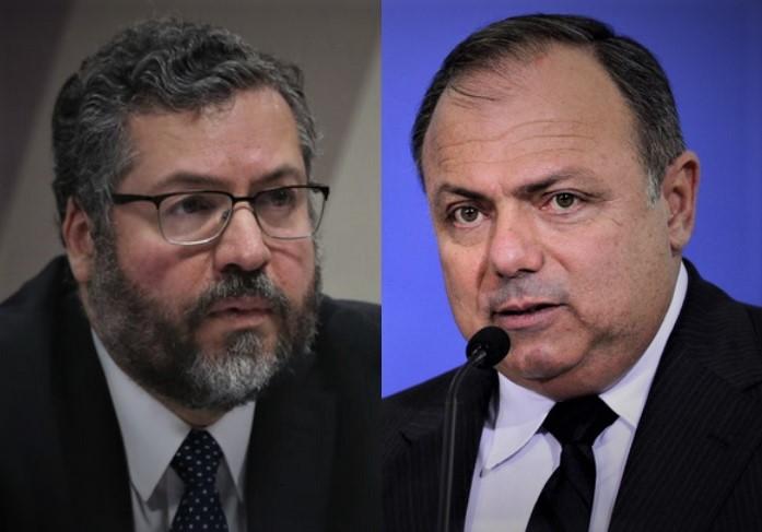 pazuello e enersto araujo - CPI aprova quebra de sigilos de Pazuello, Ernesto Araújo e de secretários do Ministério da Saúde