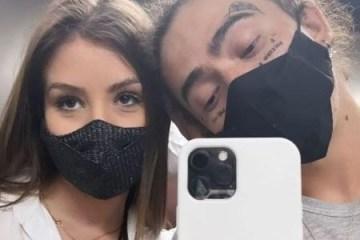 whindersson nunes e maria lina e1623794765322 - Whindersson Nunes mostra novas tatuagens no rosto, em selfie com Maria Lina - VEJA
