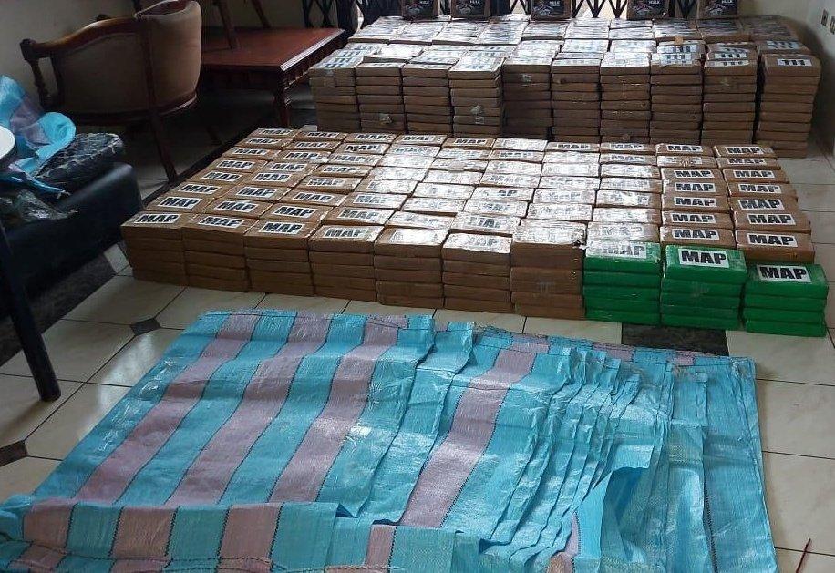 drogas apreenddas - Polícia do Equador apreende pacotes de drogas com foto do jogador Hulk - VEJA