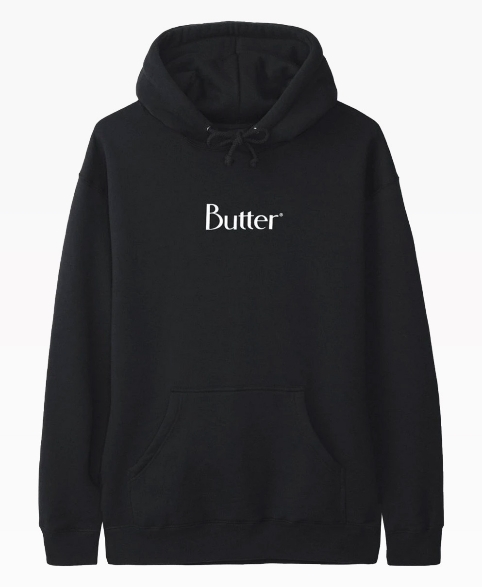 Butter Goods Classic Logo Black Pullover Front