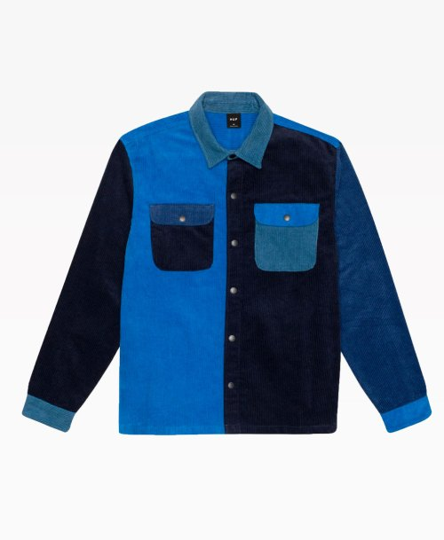 Huf Cord Block Long Sleeve Overshirt Front