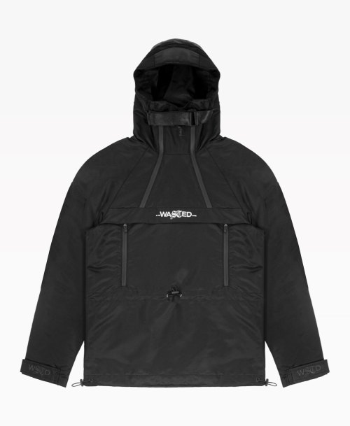 Wasted Windbreaker Arsenal Noir Front
