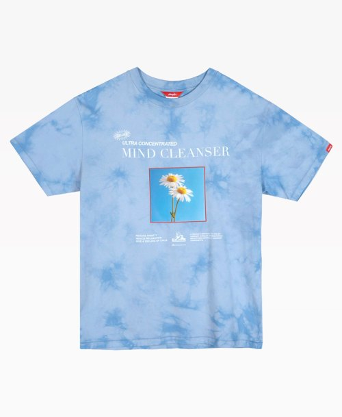 Jungles Mind Cleanser Tie Dye Blue Tee Back