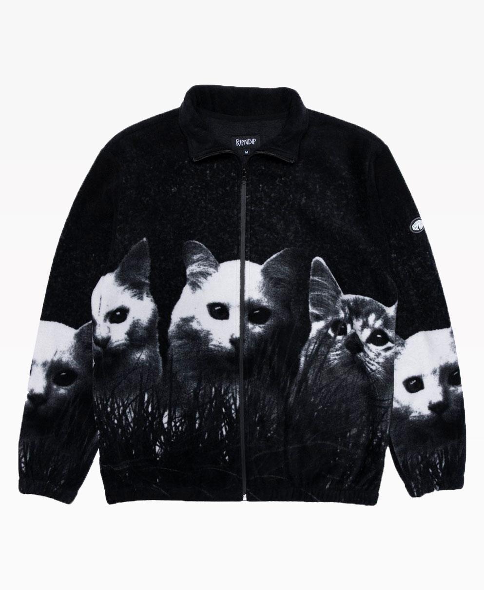 Ripndip Field Of Cats Sherpa Jacket Black Front