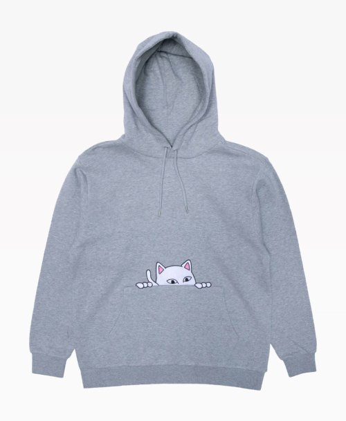 Ripndip Peaking Nermal Hoodie Heather Grey Front