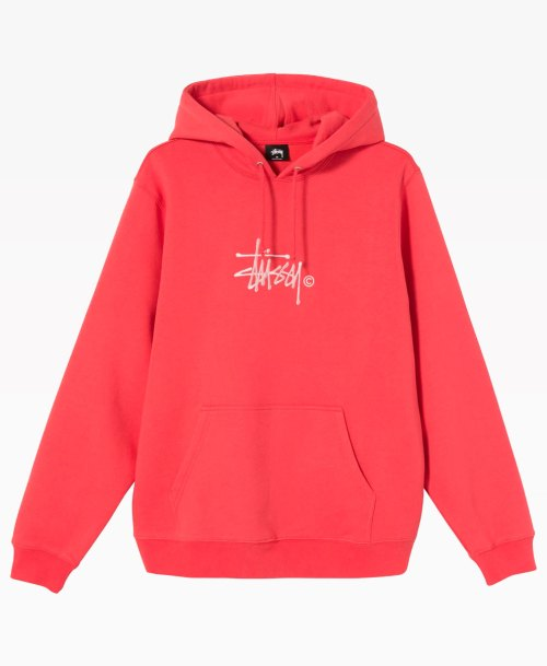 Stussy Copyright Stock Embroidered Hoodie Pale Red Front