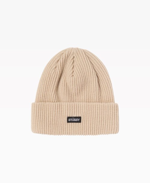 Stussy Small Patch Watchcap Beanie Sand Front
