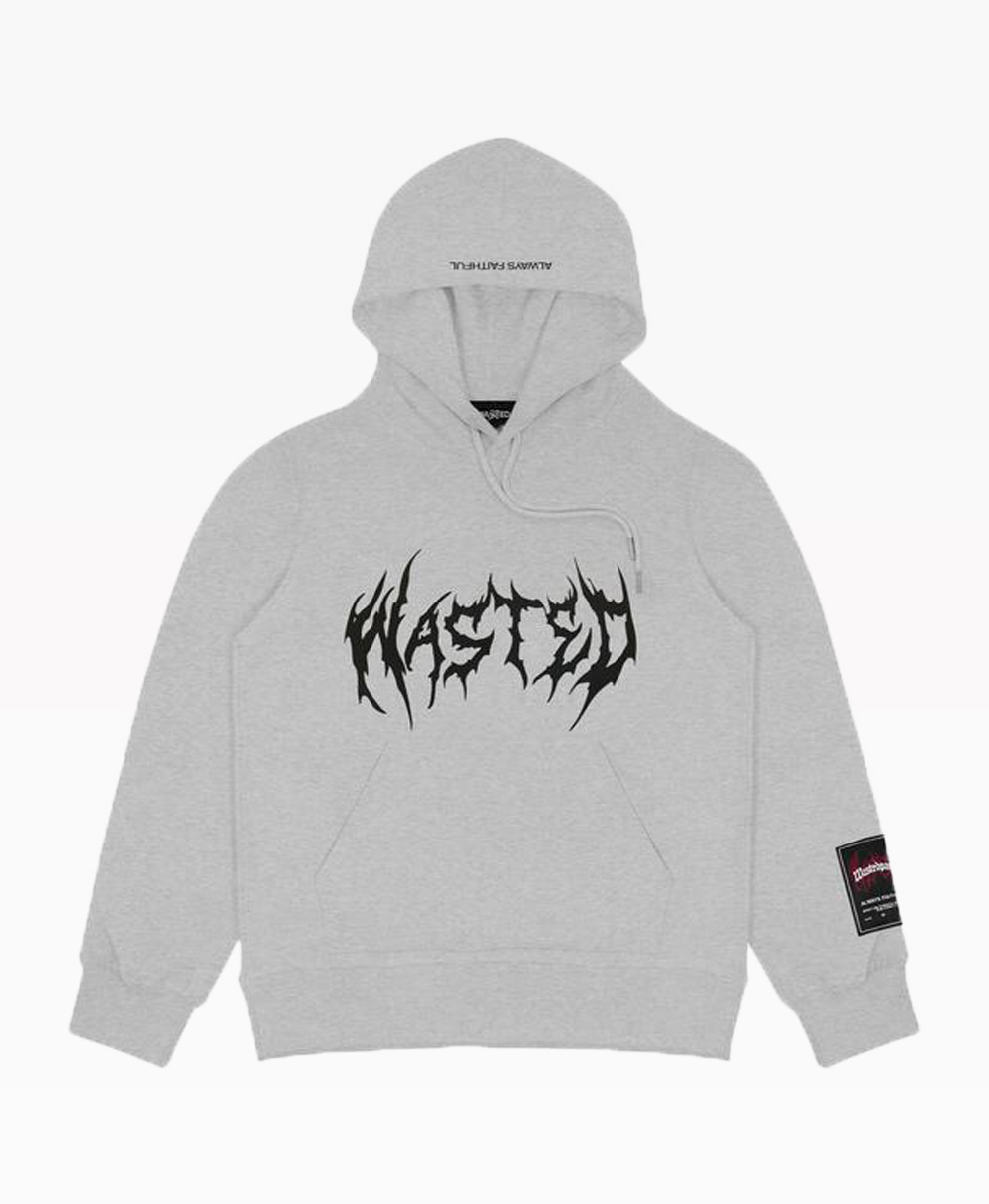 Wasted Futur Hoodie Ash Grey Front