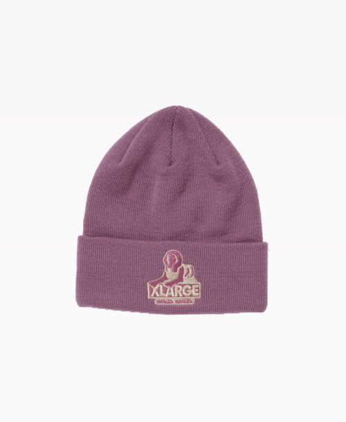 Jungles X Xlarge Og Sphinx Logo Cuff Beanie Purple Front