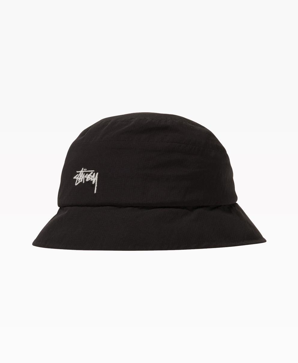 Stussy Outdoor Panel Bucket Hat Black Front