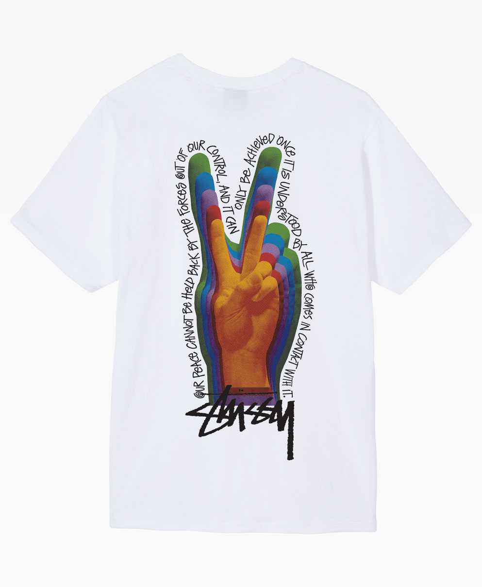 Stussy Peace Sign Tee White Back