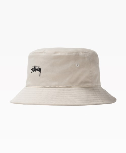 Stussy Stock Bucket Hat Natural Front