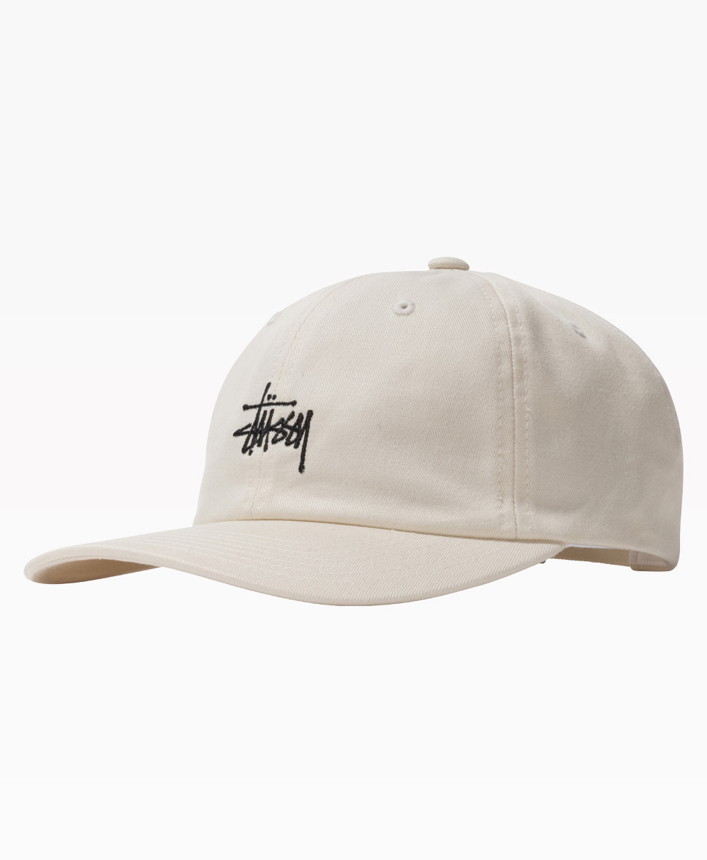 Stussy Stock Low Pro Cap Natural Front