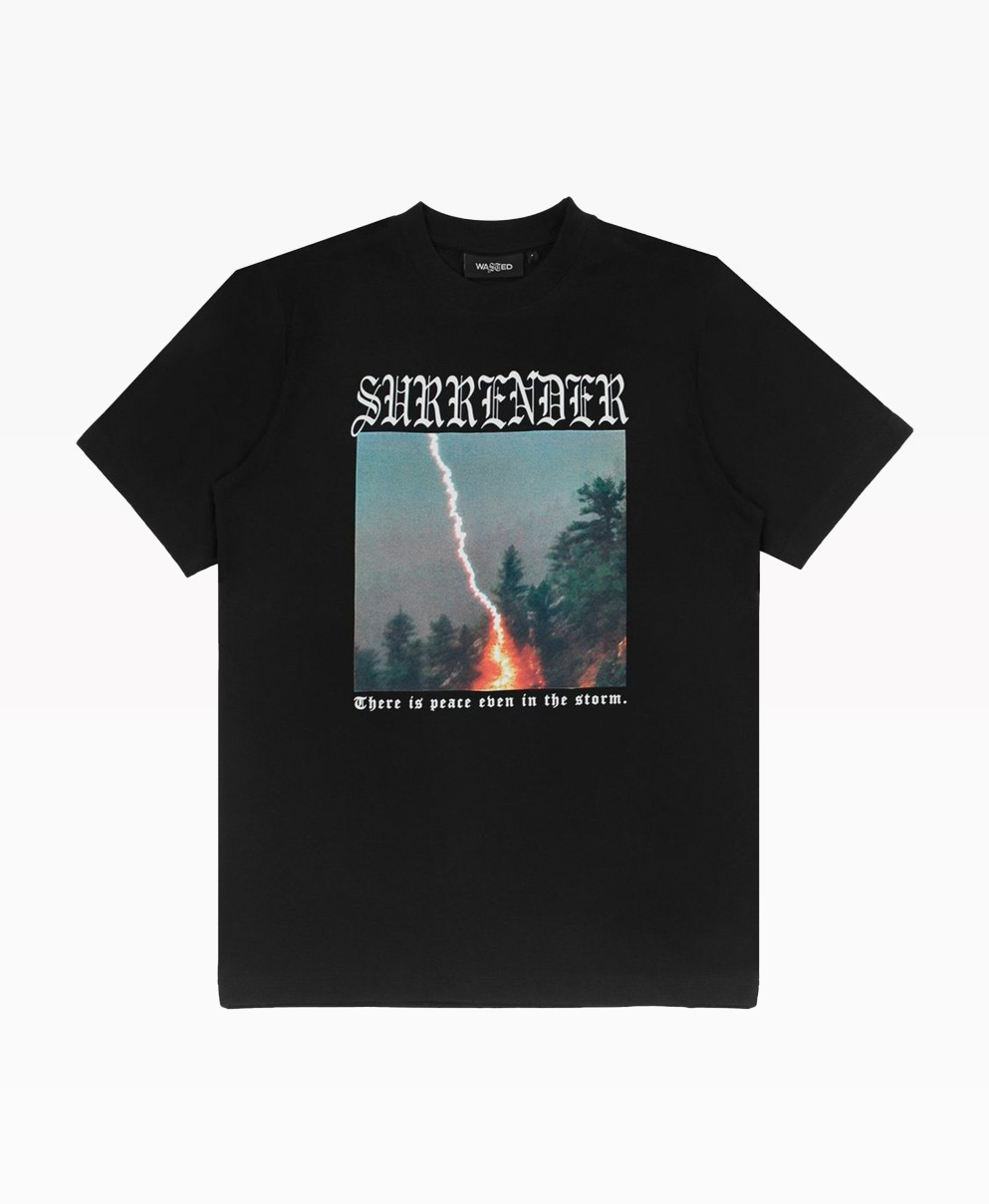 Wasted Enter Surrender Tee Black Front
