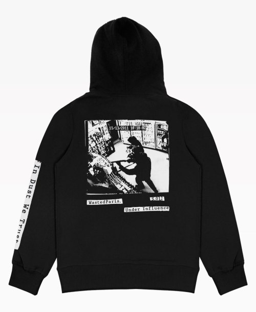 Wasted In Dust We Trust Hoodie Black Back