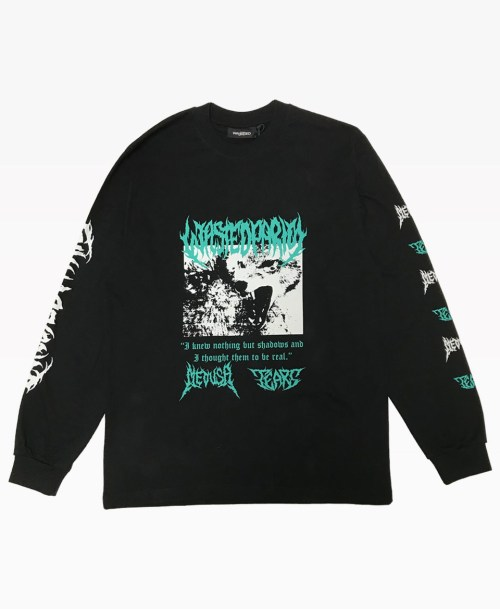 Wasted Nebula Long Sleeve Tee Black Front