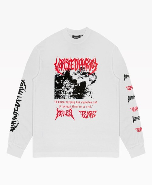 Wasted Nebula Long Sleeve Tee White Front