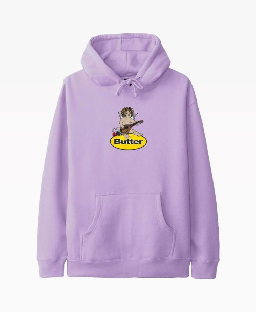 Butter Goods Angel Badge Hoodie Lavander Front