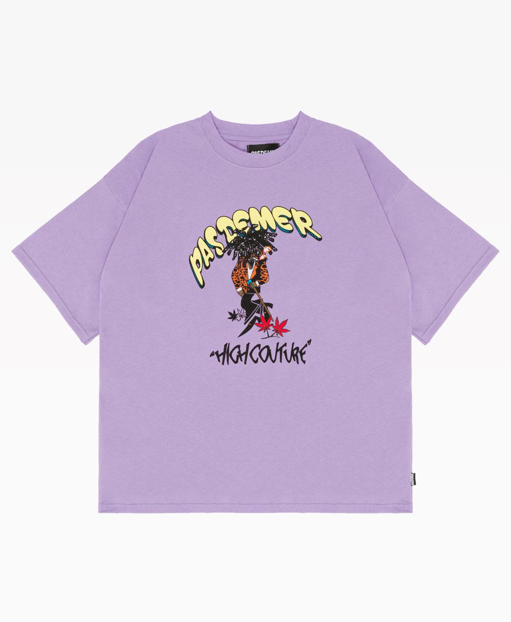Pas De Mer High Couture Tee Purple Front
