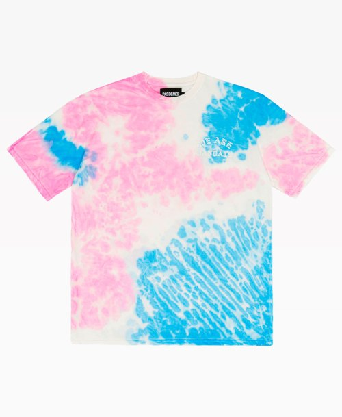 Pas De Mer Wav Tie Dye Tee Pink Blue Front