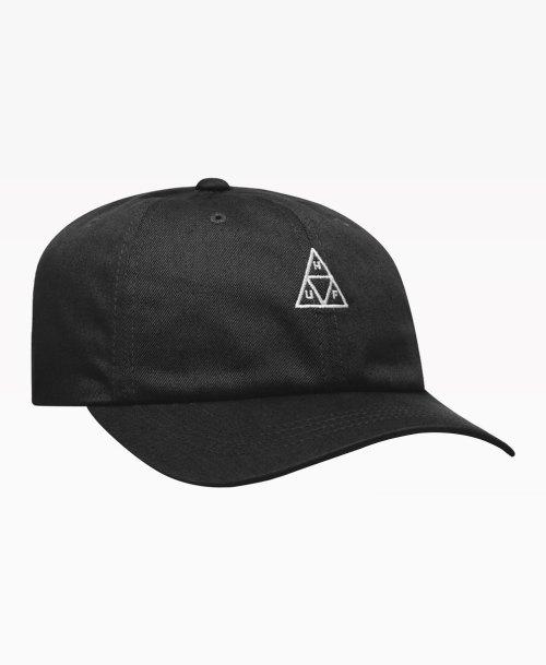 Huf Essentials Tt Logo Hat 6 Panel Black Front