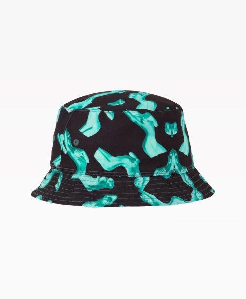 Huf Her Reversible Bucket Hat Black Front