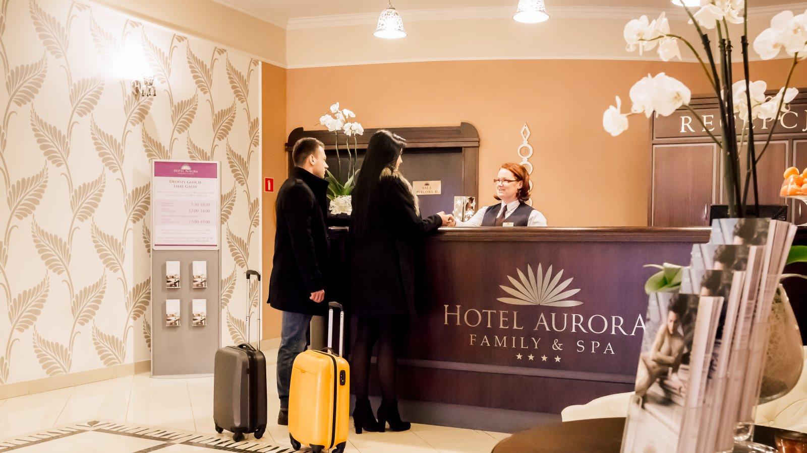 Hotell Aurora receptionen