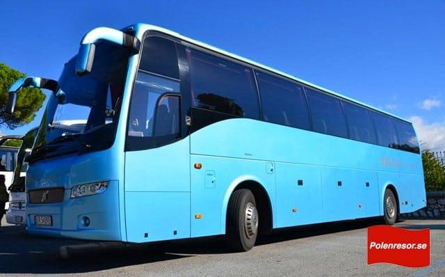 Bussen som ni får åka i på våra bussresor till Polen