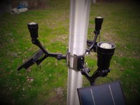 Extreme Commercial Solar Flagpole Light CREE - Product Details