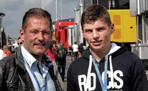 Jos Verstappen (NL), former F1 GP driver and his son Max. Nurburgring Circuit.