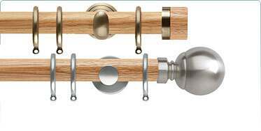wooden curtain poles from