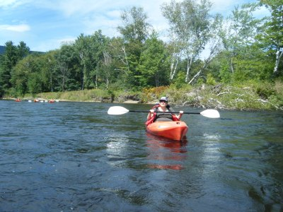 Kayaking on some river in New Hampshire, Labor Day Weekend 2014