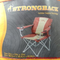 Strongback Chairs Canada Chair Design Mind Map Police Auctions Foldable 121658h Previous Next