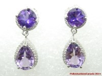 Police Auctions Canada - 925 Sterling Amethyst Drop ...